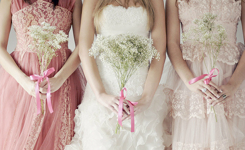 Wouldn't it be great to have such dramatic bridesmaid dresses?