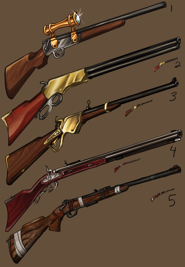UI Weapons - Rifles