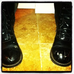 My #boots.  Time for new ones! (Taken with instagram)