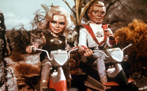Fireball XL5: glamorous Doctor Venus and Colonel Steve Zodiac of World Space Patrol take to the road in a 1962 episode of Anderson's early action adventure series