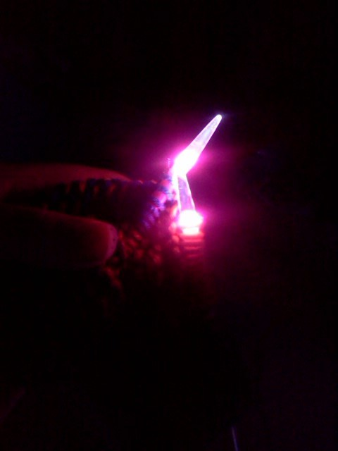 jadeharleyquinn:  My new knitting needles light up!!!