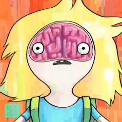 "Here's Finn and his brain from the Adventure Time episode ""Another Way"""