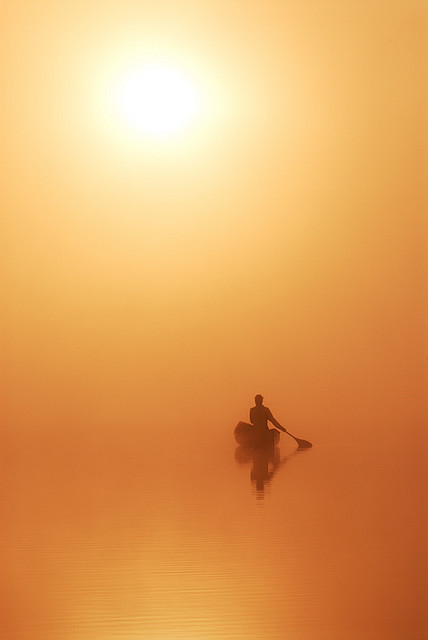 coffeenuts:  Morning Canoe by Peter Bowers on Flickr.