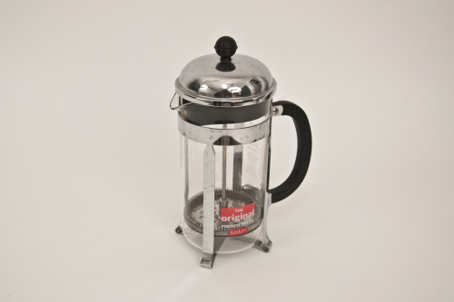 French Press  12 years I have had a multitude of coffee makers since my first job in a coffee shop at age 15. I got this French press after visiting my sister in New York City and using hers for the first time. I remember stirring the grounds with a chop stick in her tiny college apartment.