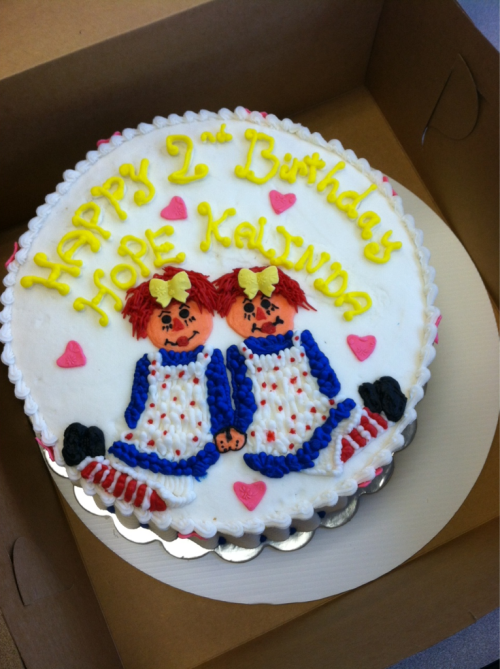 Raggedy Ann Cake done for us by the lovely Jenn of House of Cake! Adorably Delicious!