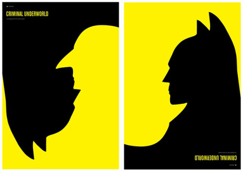 hydeandgeek:  Cool Batman/Penguin artwork  This made me a little cross-eyed but I like it!