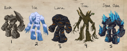 "Land Golems ""In Game"" Style"