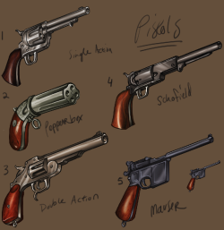 UI Weapons - Pistols