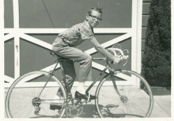This was definitely me back in the day. My mum's motobecane track bike always sat in the garage next to mine and my sister's, and it always seemed so huge, so tall, so sleek. Someday I would be big enough to ride it.