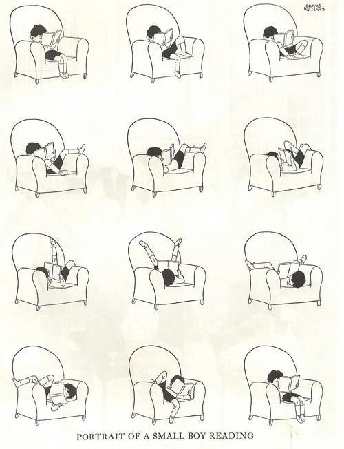 bookmania:  Portrait of myself reading.