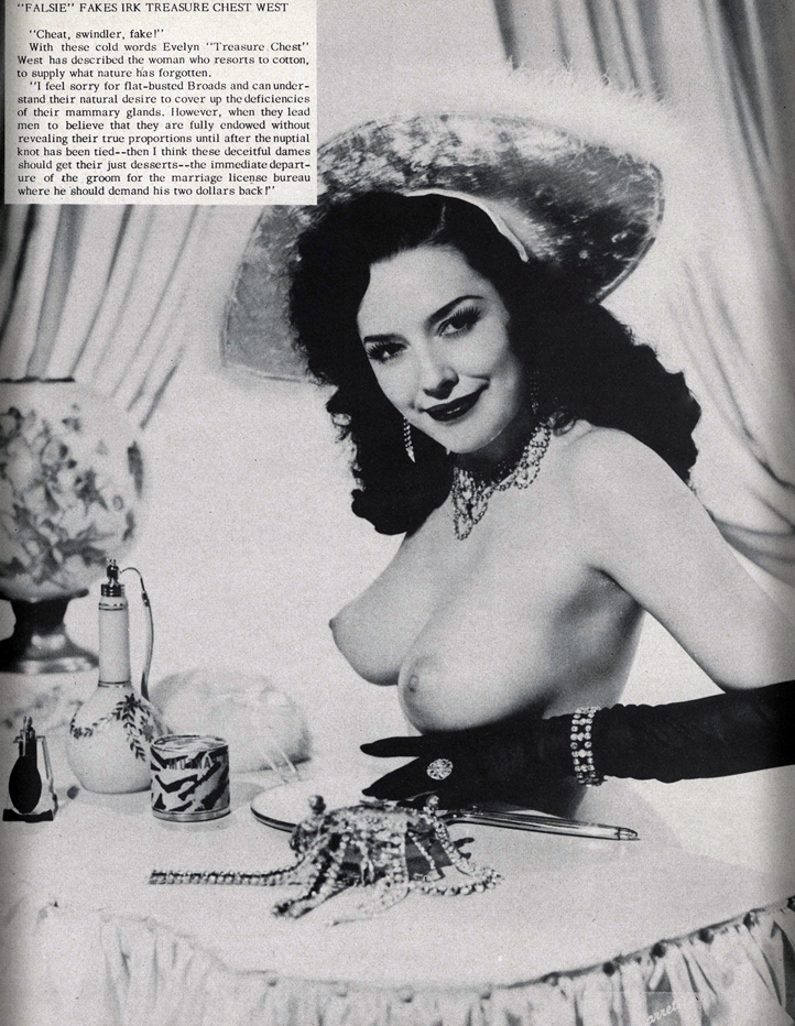 "Evelyn ""Treasure Chest"" West    from 1956 Playgirl magazine"