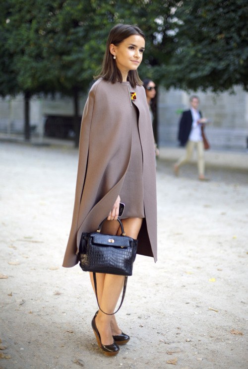 what-do-i-wear:  Miroslava Duma in Lanvin Cape (image: streetpeeper)