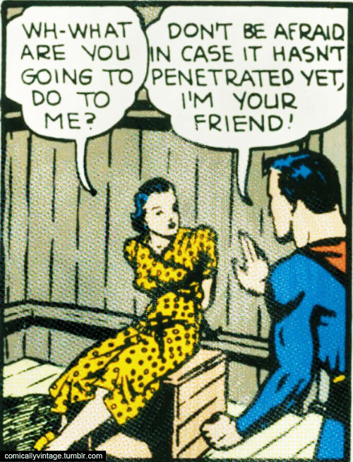 comicallyvintage:  Friends don't penetrate friends.