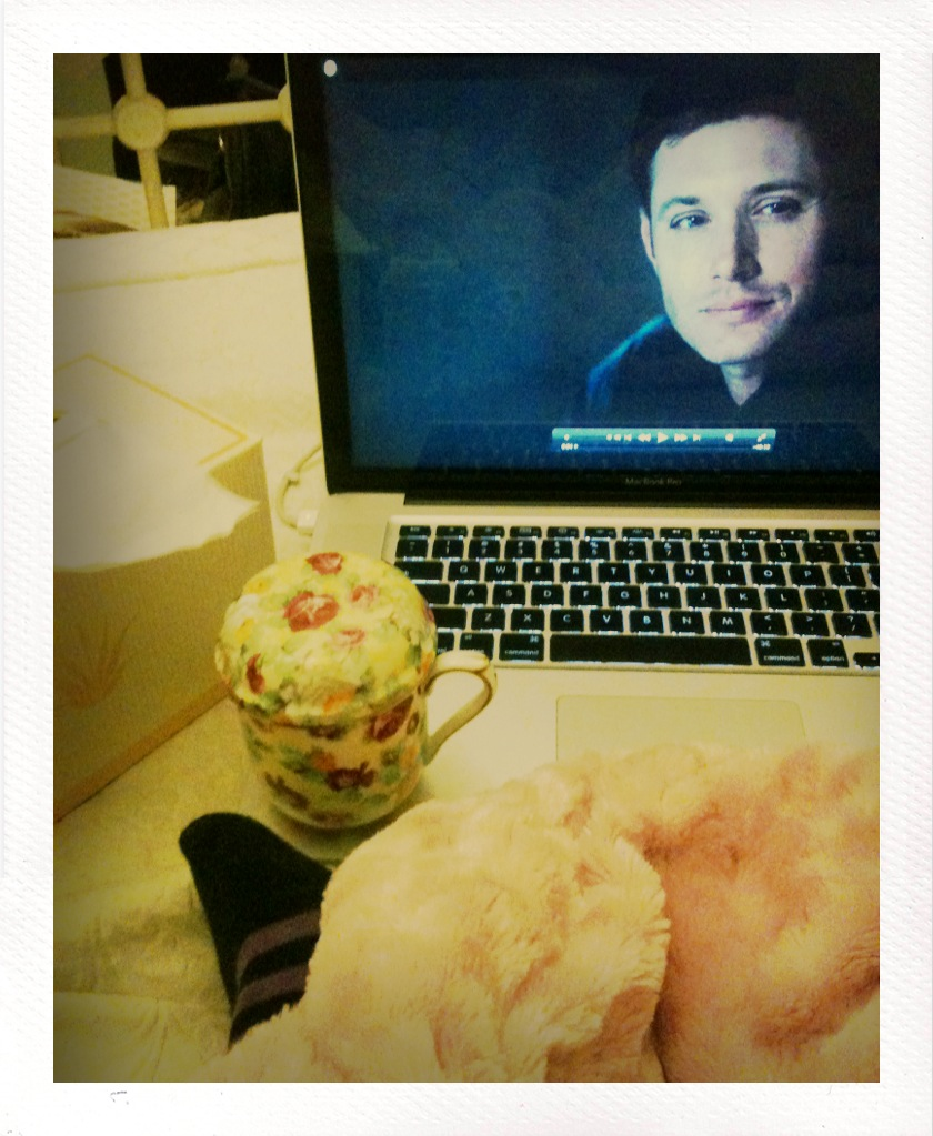 Day 362: Jensen Ackles mad skills. Super soft tissues. Tea in cute cups. Nights at home to process.
