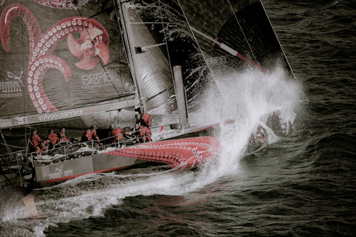 Congratulations to PUMA's Mar Mostro has won the Leg 3 IWC Speed Record Challenge with a 24-hour run of 355.89 nautical miles. (photo: Paul Todd/Volvo Ocean Race)