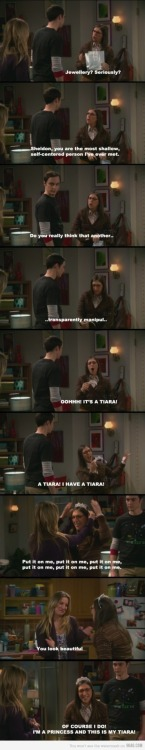 9gag:  Just Amy Farrah Fowler and her tiara.  (via imgTumble)