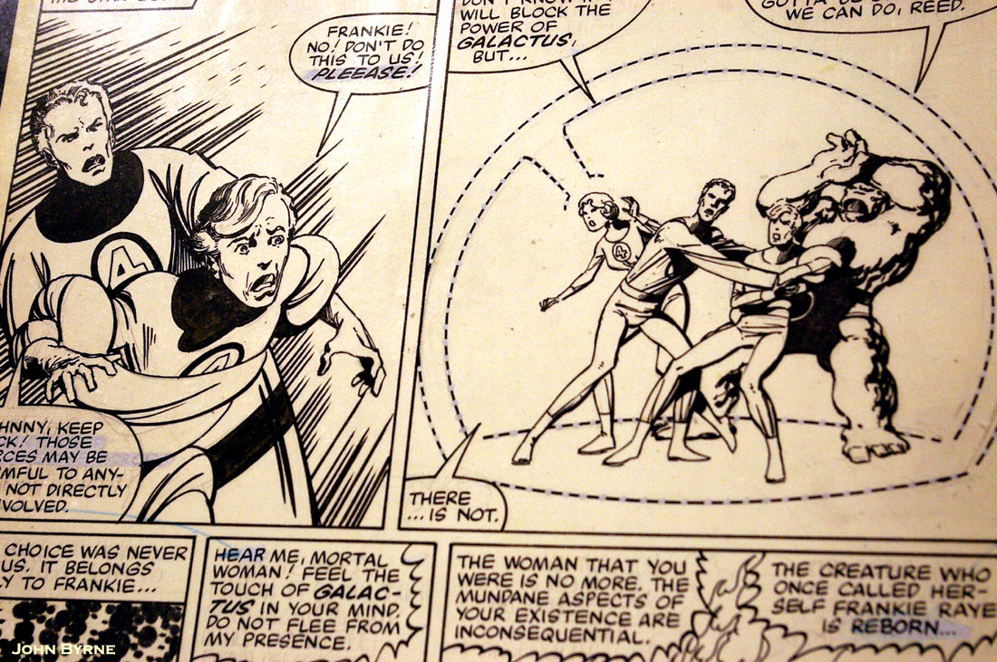 The Sacrifice of Frankie Raye. From John Byrne's The Fantastic Four #244: July 1982: Marvel Comics. Comic-Con. San Diego. 2010. Exhibit Hall East. Gold & Silver Pavilion.