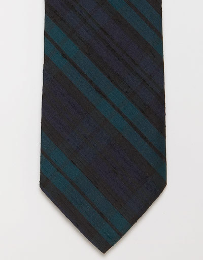 "J.Press blackwatch raw silk necktie — Bunch of new J.Press spring-summer 2012 items popped up online today. Kind of wondering how their ""trim fit"" 110th anniversary OCBDs fit. They have some nifty neckwear, too, that's worth browsing through, including the #menswear blogger bait above. Other neckties include slimmer silk knits (2"") and linen ties."