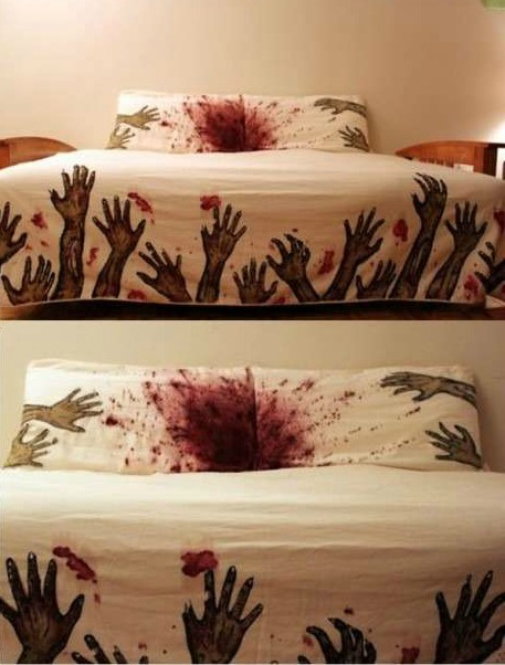 zombify:  i need this !  Nightmare inducing? Yes. Awesomest Bed ever? Also yes.