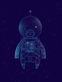 Amé esta ilustración de un astronauta ñ__ñ »> THE TRAVELER - MOUNTED by Richard Perez.