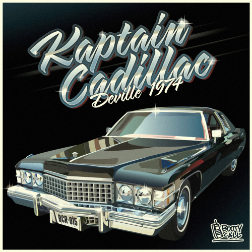 "Kaptain Cadillac - Deville 1974 [BCR0015] Label : BOOTY CALL RECORDS Catalogue number : BCR 0015 Format :Digital Relase date : 02/06/2012 Tittle : Deville 1974 Artists : Kaptain Cadillac, Six Foe Tracklist: 01 - Kaptain Cadillac - Ghetto Zoo 02 - Kaptain Cadillac - Bounce and Bang 03 - Kaptain Cadillac - Booty Up Booty Down feat Six Foe French ghetto pioneer and European Booty Bass unquestioned godfather, Kaptain Cadillac offers us a second EP, a personal and modern vision of ghetto tech. Within a street and shifted musical universe, his sound reflects the US Midwest influences mixed with Europeans club tones all of it served in a storm of BPM. Together reverent of his roots and innovative, the Cadillac sound approaches ghetto-tech as a unique style in permanent evolution.  Composed of three original tracks, this EP kicks off with the beastly ""Ghetto Zoo"" giving the club a furious bestiary look wakening up the bassthirst sleeping in all of us. Then come ""Bounce & Bang"" a punch with its frenetic arpeggios, in the fine ghetto-tech tradition made in Detroit.  Ending with ""Booty Up Booty Down"" featuring Six Foe, the legendary Detroit MC from Databass Records chanting a furious burning calories anthem on well caliber synthesizers to move the most uncooperative booties.  Optimized for the moistest dancefloors around the world, this EP puts Booty Bass back into the center of worldwide bass musics and confirms Kaptain Cadillac's as highly ranked in international clubbing scene.  Supported By: Feadz, Schlachthofbronx, DJ Godfather, Nic Sarno, Chrissy Murderbot, DJ Zegon, Maddjazz, Sinjin Hawke OG Bulldog … Video Teaser Artwork: LARRY PRINT BUY: Itunes / Junodownload / Beatport STREAM: Soundcloud / Deezer"
