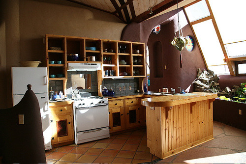 Estrada earthship kitchen
