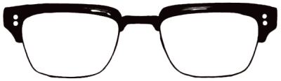 pimpin' ain't easy! liamodonnell:  My Dita glasses vectorised by Karlie for my new logo!