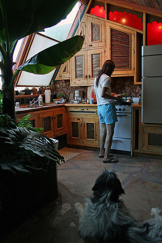 Earthship cooking