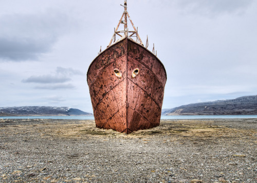 "svo-gott:  ""The oldest steel ship in Iceland"" by ragamoffyn on Flickr."