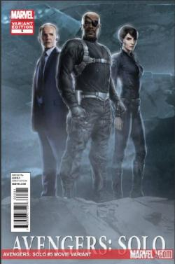 Newest Avengers: Solo Cover Features SHIELD Agents Phil Coulson, Maria Hill, and Director Nick Fury