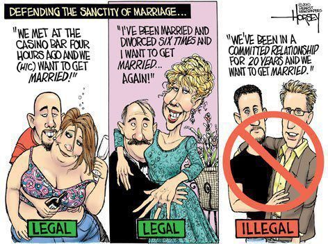 Defending the 'sanctity' of marriage…