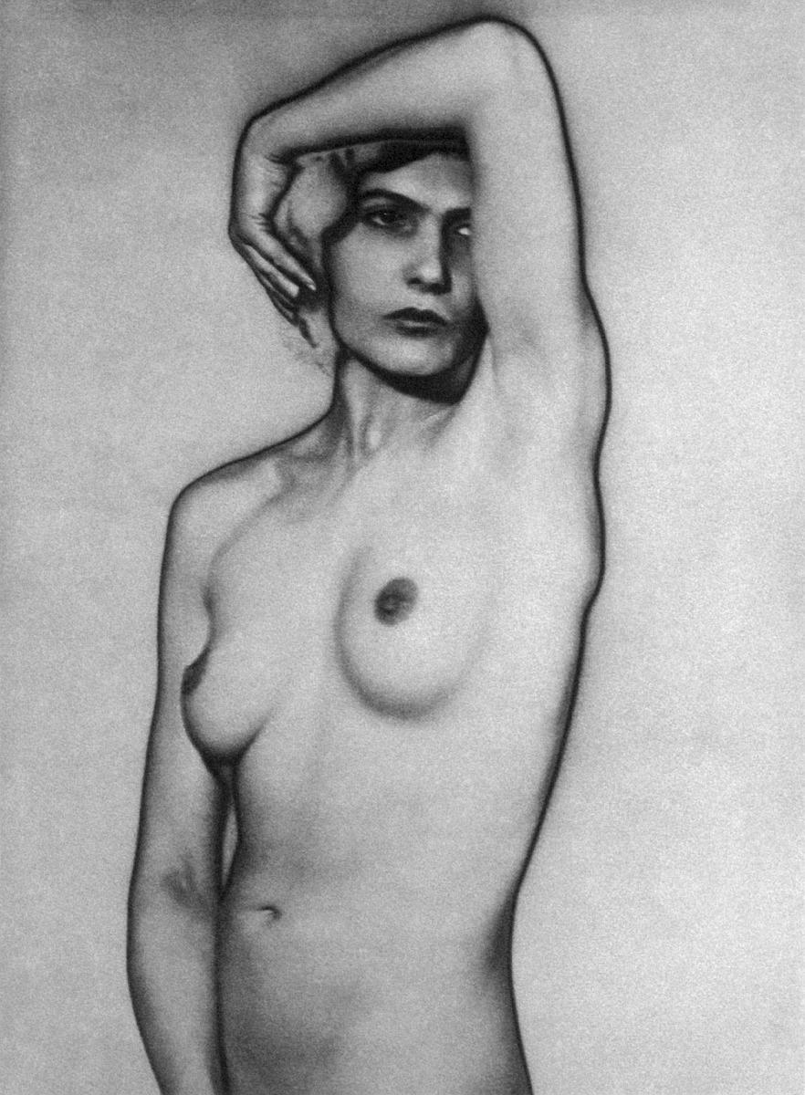 Man Ray, (1890-1977) Nude. 1929, Solarized gelatin silver print, ...