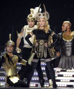 Details on Madonna's three Givenchy Haute Couture Super Bowl halftime show looks.