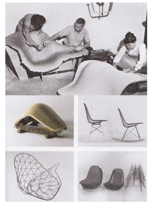 styloroc:  Charles and Ray Eames working on Eames chairs