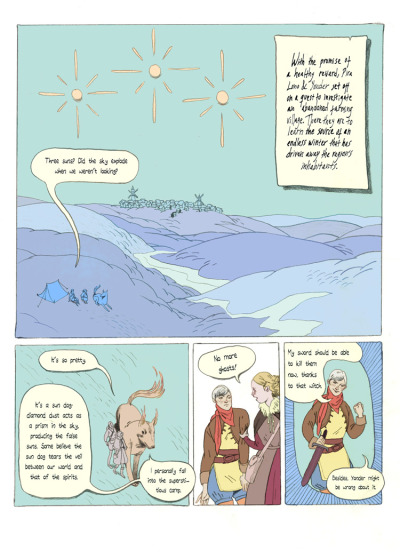 Hey hey, I just finished a small comic for Spera (if you are not familiar with this then check it out at http://spera-comic.com). Story is written by Bobby Myers and Josh Tierney, pretty stoked to have been a part of this, Spera is a wonderful project so if you like your comics and your fantasy together this is for you! To read the rest of my comic, called Sun Dog, go over here: http://spera-comic.com/onlinecomics/onlinecomics.html