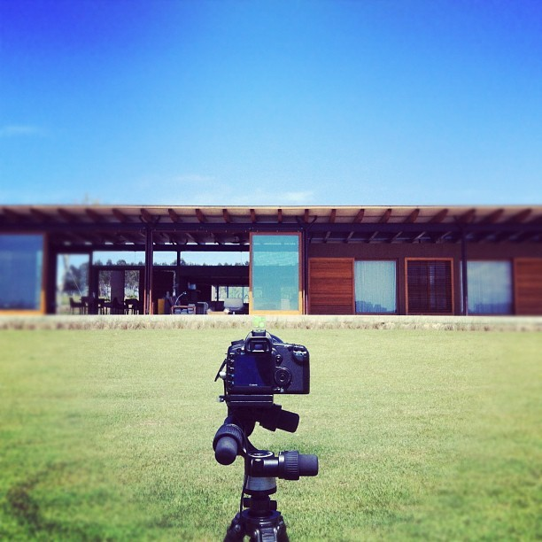 [BACKSTAGE] what a day for exterior shots! #architecture #photoshoot