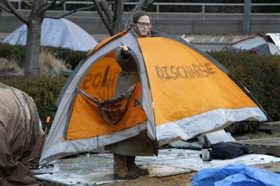 From Occupy Philly - a good way to keep your tent
