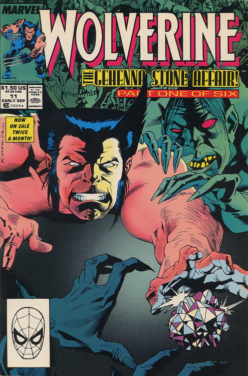 Wolverine #11, Early September 1989.