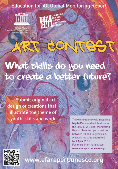 youth-skills-work:  Art contest: What skills do young people need to create a better future? Be creative and express yourself in our artwork contest and please reblog! More information. Français. Español.