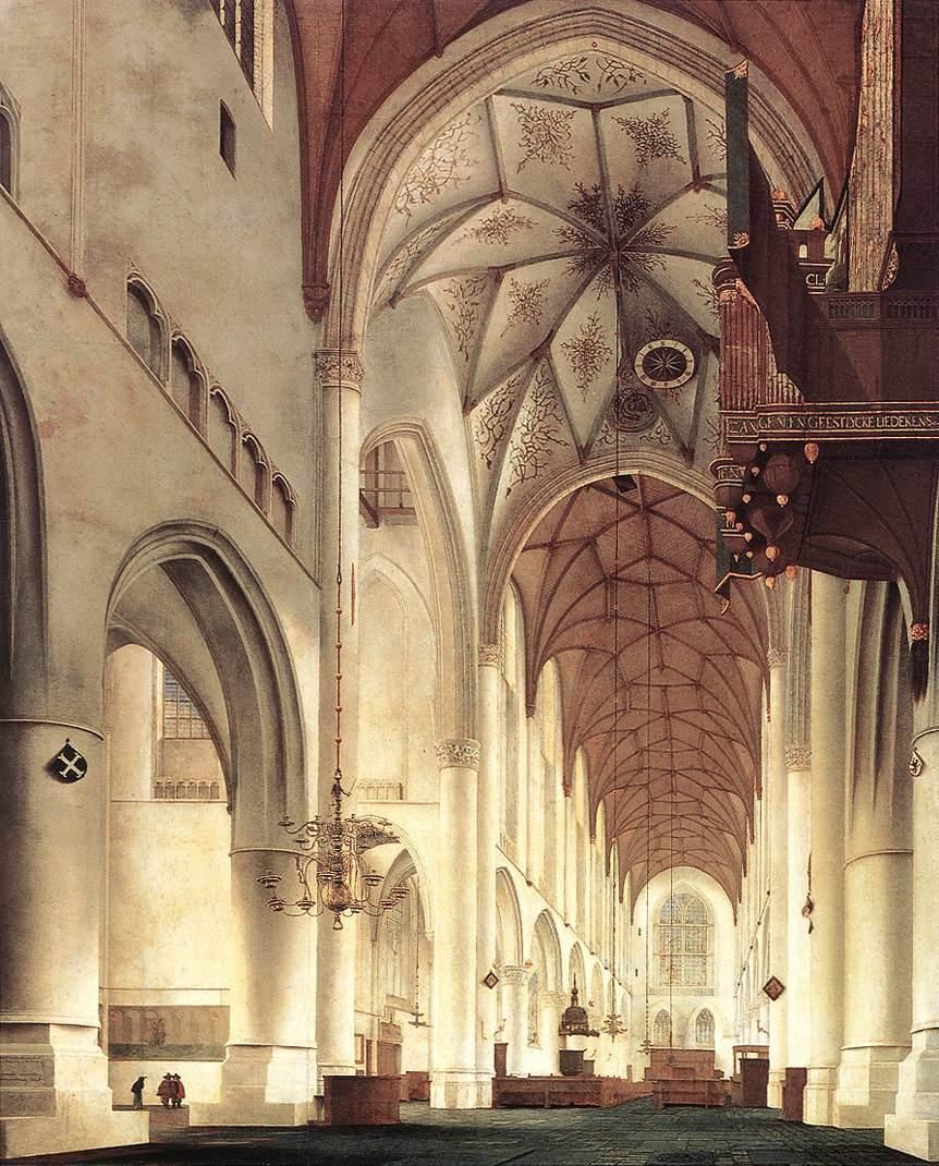 artandopinion: Pieter Jansz Saenredam, Interior of the Church of St Bavo in Haarlem, 1648