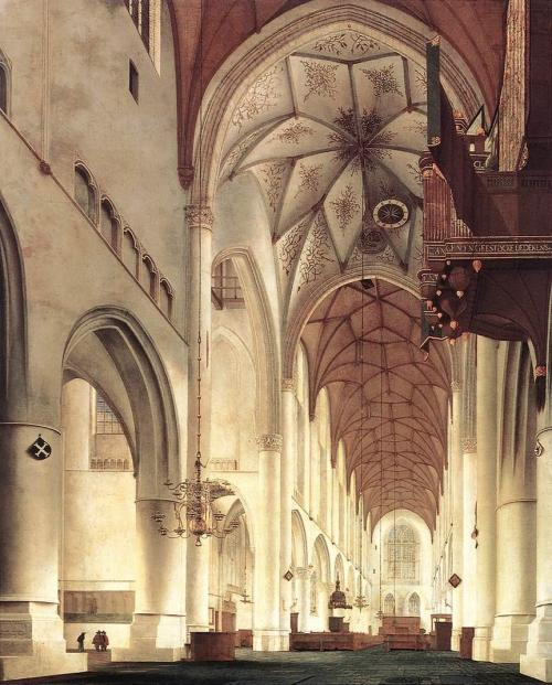 Interior of the Church of St Bavo in Haarlem 1648 Pieter Jansz Saenredam