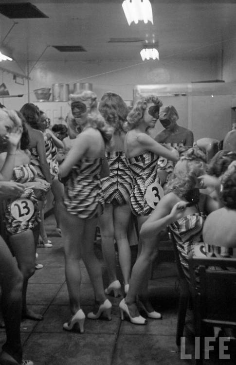 """Beautiful legs contest"" contestants, LIFE, 1948"