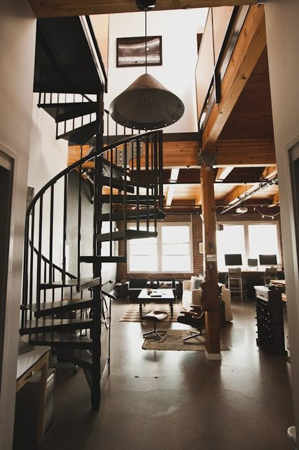 spiral staircases are the best staircases. why do any other staircases exist?