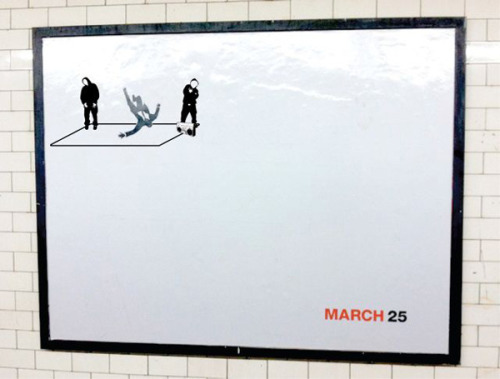 braiker: Mad Men Falling Man Street Posters Humorously Altered