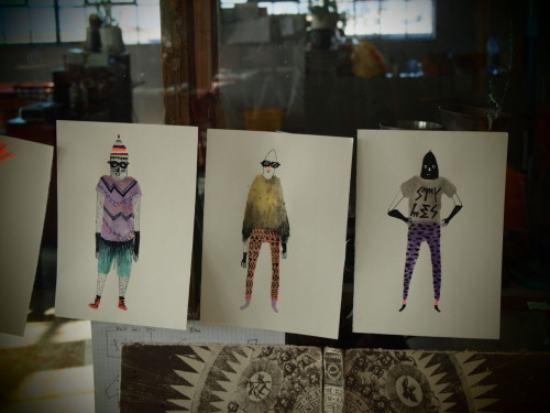 My first drawings in da house! Fashion Monsters Summer Edition! YO!