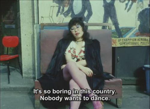It's so boring in this country. Nobody wants to dance.