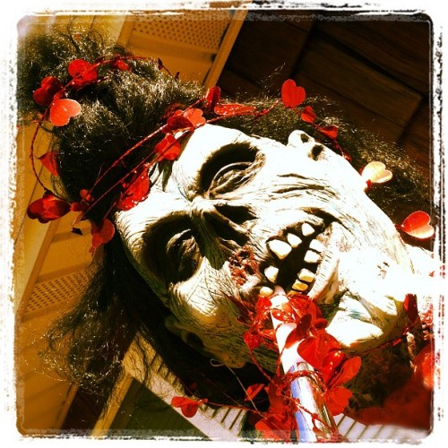 This months front door zombie head decor  (Taken with instagram)