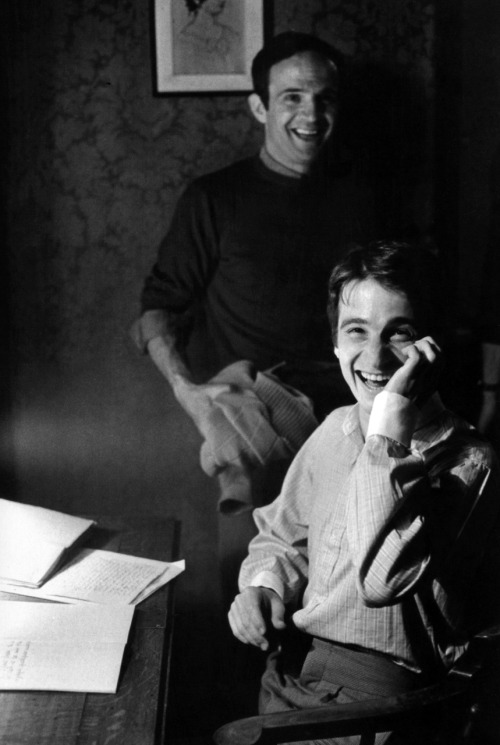 François Truffaut with Jean-Pierre Léaud