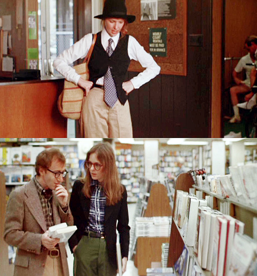 "Woody Allen and Diane Keaton are the most requested posts on NBF and NGF, respectively. My favorite Wiki bit from Annie Hall:   Allen recalled that Keaton's natural fashion sense (the outfits that Keaton wore in the film were her own clothes) almost did not end up in the film. ""She came in,"" he recalled in 1992, ""and the costume lady on Annie Hall said, 'Tell her not to wear that. She can't wear that. It's so crazy.' And I said, 'Leave her. She's a genius. Let's just leave her alone, let her wear what she wants.""  Emulate Mr. Allen's style with a neutral colored plaid button down and classic black frames. Emulate Mrs. Keaton's style with a slim blazer and oversized readers. Additional favorites inspired by Woody Allen and Diane Keaton: Pleated Trousers, Compact Camera, Men's Cord Blazer, and Trilby Hat. — Guest Editor Roxana Altamirano, Nerd Boyfriend"