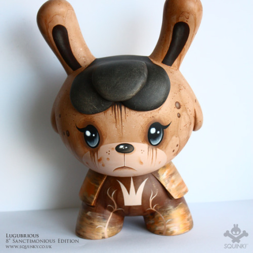 "My new 8"" custom Dunny Lugubrious goes on sale in just over an hour, hope you like this one! Find him HERE"